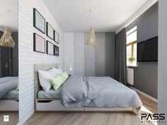 Projekt 17 - Średnia sypialnia małżeńska, styl skandynawski - zdjęcie od PASS architekci