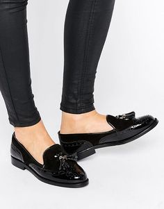 Office | Office Fling Tassle Brogue Leather Loafers