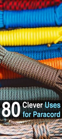 80 Clever Uses for Paracord. If you haven't already, you should definitely add some paracord to your bug out bag. You could also get a paracord bracelet or a paracord belt so you can take it with you anywhere. Click here to see 80 clever uses for #Paracord. #Urbansurvivalsite #DIY #Preppers