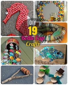 19 Easy and Striking DIY Bottle Cap Craft Ideas. Bottle cap key chain, Wind chime, Bottle cap arts, Jewelry, table Decor art and cap coasters and bottle cap fun projects for kids. Some Recycled toy statues with beer bottle caps.