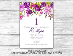 This listing is for a digital invitation ready for you to print at home or send to your local print shop. At checkout specify all information and the file will be created for you and sent as a JPG unless otherwise specified. Please note that during checkout the downloaded file will