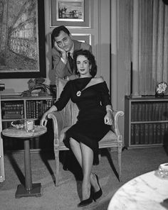 Elizabeth Taylor with Mike Todd - I think he was the only man who could handle her! Such a tragic story, she was so in love with him.