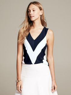 Chevron Stripe Tank Product Image