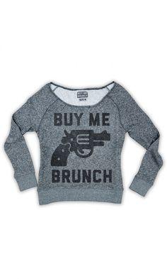 buy me brunch pullover