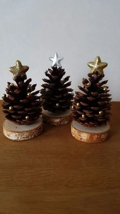 Pine cone crafts christmas decor diy cones crafts christmas crafts for kids christmas crafts rustic christmas tannenbaum auf holz craftidea org pinecone crafts 26 diy christmas pine cone crafts to add extra charm to holidays Noel Christmas, Christmas Crafts For Kids, Diy Christmas Ornaments, Homemade Christmas, Christmas Projects, Holiday Crafts, Family Christmas, Christmas Ideas, Pine Christmas Tree
