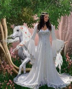 Medieval Fairy Wedding Dresses | Victoria Velvet and Lace Fantasy Medieval Fairy Wedding Gown Custom