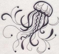 Jellyfish Towelembroidered Nautical Hand & Bath Towelsbeach Bathroom Decor
