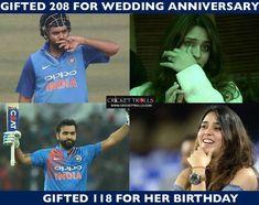 Rohit Sharma's gift to his wife Ritika Sajdeh #INDvSL #2ndODI - http://ift.tt/1ZZ3e4d