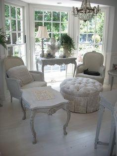 White Shabby Chic Living Room   Shabby Living Room