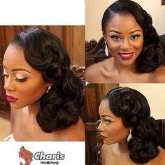 She is beautiful, hair by @charishair, Stunning.. #bride #haircrush #makeup #redlipstick.