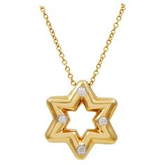 Tiffany & Co. Diamond Gold Star of David | 1stdibs.com