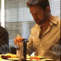 Gerard Butler SUSHI Lunch 2016.1.13 west Hollywood photo : hollandse hoogte…