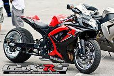 2006 GSXR 600 Red & Black Custom Street Bikes, Custom Sport Bikes, Custom Motorcycles, Trike Motorcycle, Motorcycle Design, Suzuki Gsx R 600, Cafe Racer Moto, Stunt Bike, Biker Boys