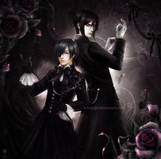 Kuroshitsuji: Ciel and Sebastian by K-Koji on DeviantArt