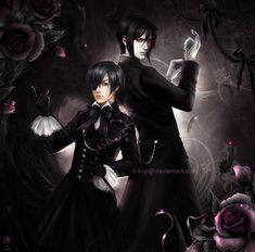 Kuroshitsuji: Ciel and Sebastian by K-Koji.deviantart.com on @deviantART