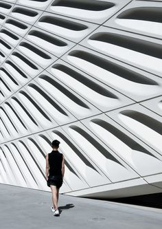 Exterior of The Broad museum in Downtown Los Angeles. Designed by Diller Scofidio + Renfro (in partnership with Gensler)