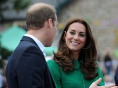 Once again, William makes Catherine smile just for him!  Priceless moments for these  young Royals!