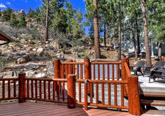 Big Bear Cabin #39 Gold Rush Resort 4Bed/3 Bath Great for Families! To Book call (310) 800-5454 or click the image! #BigBear #vacation #5starvacation #deck #spa