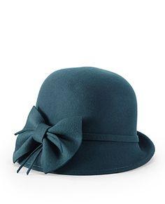 JESSICA SIMPSON: Bow Felt Cloche [Aqua] $48.00