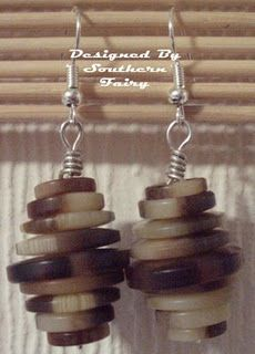 Stacked Button Earrings.