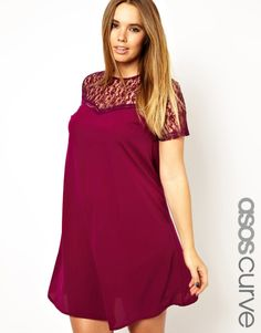 customer in mind, ASOS CURVE presents a collection of plus size clothing to complement the fuller figure.  Look to ASOS CURVE for carefully considered trend-led styles from our mainline range, cleverly adjusted for the most flattering fit. This season, update your wardrobe with chic skater dresses and jersey tops, alongside playsuits and pretty blouses in bold prints and ultra-feminine lace, precisely cut for women of size 18 to 28.
