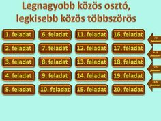 Állapítsd meg az alábbi számok legnagyobb közös osztójának és legkisebb közös többszörösének hatványalakjait! a szám = 23·32·5·73·11 b szám = 22·3·52·112. Math, Math Resources, Mathematics