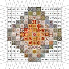 Dear Quilter: Mac and Muff Harvest Moon, Paper Piecing, Dear Jane Quilt, Lady Jane, Sampler Quilts, Mirror Image, Quilting Designs, Hand Embroidery, Pattern Design
