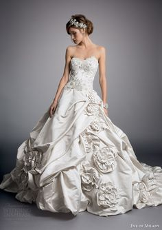 http://www.weddinginspirasi.com/2014/07/31/eve-of-milady-2014-couture-wedding-dresses/ Eve of Milady #couture #wedding dress 2014: strapless ball gown style 4316 #weddingdress #weddinggown