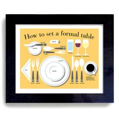 Kitchen Art Gift Table Manners Etiquette Art Print by DexMex, $35.00