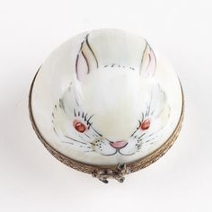 Items with bunny rabbit artwork , like this lovely pill box. So dainty.