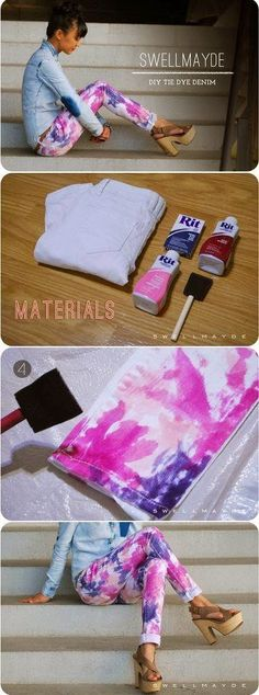 How to Chic: DIY ISABEL MARANT TIE DYE DENIM