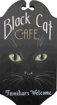 King Of Mice Studios - Black Cat Cafe Familiars Welcome - Halloween
