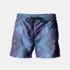 Diamond Pattern Mosaic Glass Swim Shorts 2, Live Heroes Mens Swim Shorts, Diamond Pattern, Mosaic Glass, Beachwear, Swimsuits, Live, Shopping, Beach Playsuit, Beach Outfits