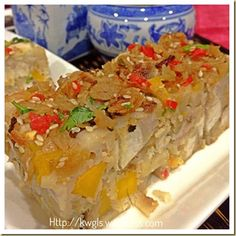 Chinese Steamed Yam And Pumpkin Cake