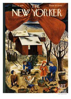 The New Yorker Cover - December 13, 1941 Regular Giclee Print by Ilonka Karasz at Art.com