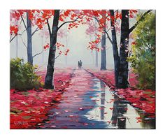 Award winning Artist tree Painting Landscape  by por GerckenGallery