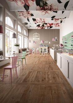 Marazzi TreverkEver Clove cm – My Pin's Cake Shop Design, Coffee Shop Design, Bakery Design, Store Design, Restaurant Design, Deco Restaurant, Cafe Interior Design, Cafe Design, Cupcake Shop Interior