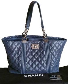 45e61b28efd Get one of the hottest styles of the season! The Chanel La Boy Pebble Suede  Jumbo Navy Tote Bag is a top 10 member favorite on Tradesy.