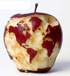 りんごの地球儀