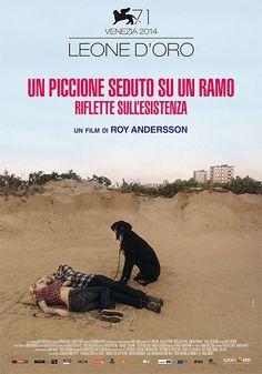 """""""Un piccione seduto su un ramo riflette sull'esistenza"""", regia Roy Andersson, distribuito da Lucky Red, design internozero comunicazione"""