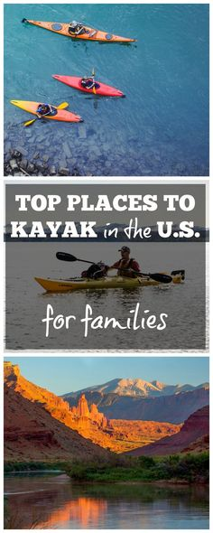 Top places to kayak for families in the U. - Kayaking is a great choice for a family vacation, because it involves teamwork, exercise, and the chance to enjoy breathtaking scenery. Vacation Games, Vacation Spots, Vacation Ideas, Vacation Packing, Travel With Kids, Family Travel, Family Vacations, Toddler Travel, Family Adventure