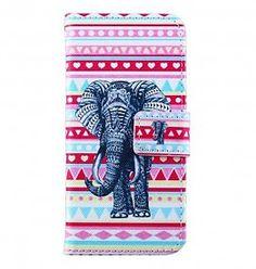 iPhone 6 flip case Aztec olifant - PhoneGeek.nl