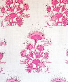 Seaweed in Magenta from Katie Ridder #fabric #pink