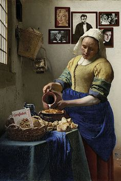 VERMEER | THE MILKMAID #Vermeer #TheMilkmaid #Arty-shock #studioPietjePrecies Want want want!