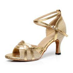 Frauen Kunstleder Heels Sandalen Absatzschuhe Latin mit Knöchelriemen Tanzschuhe (053063320)