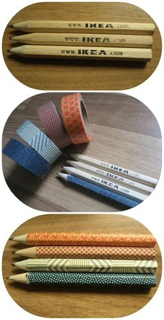 Quand nos crayons ordinaires deviennent… Extraordinaire avec du ruban adhésif #IKEA #DIY: