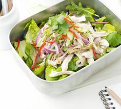 This easy-to-prepare salad is filled with zingy flavours - the simplified version is great for kids' lunchboxes too