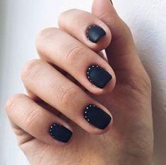 New nails design invierno 2018 23 ideas Trendy Nails, Cute Nails, Hair And Nails, My Nails, New Nail Designs, Minimalist Nails, Finger, Fall Nail Colors, Swag Nails