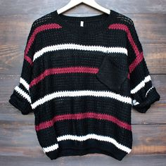 Coolred-Men Chunky Patched Loose Fit Sweater Tops with Ribbing Edge