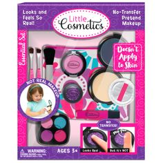Pretend Play Makeup Essential Set Little Cosmetics Toys For Kids Fake Makeup, Kids Makeup, Makeup For Teens, Makeup Set, Party Makeup, Make Up Kits, Barbie Make-up, Diy Barbie Clothes, Princess Toys